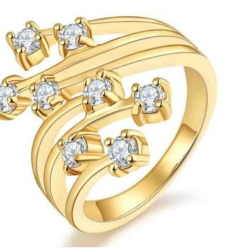 Hollow Out Gold Color Ring for Women