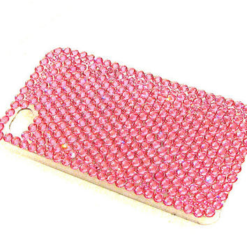 Bright Pink Swarovski Rhinestone Crystal Phone Case for All iPhone Models -  (Samsung, Nokia, Blackberry, etc. AVAILABLE BY REQUEST)