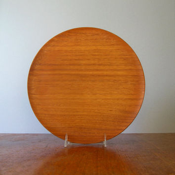 Japanese Modern Molded Teak Plywood Tray - National Craft Council