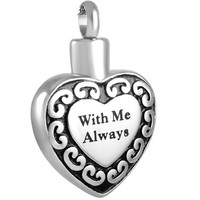 """Cremation """"With Me Always"""" Urn Necklace"""