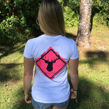 Deer Crossing Series Ladies Short Sleeve Tee