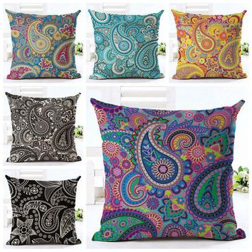 DCCKJG2 elegant ethnic cushion cover printed paisley almofada boho throw pillow case for sofa chair decorative floral cojines home decor