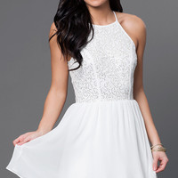 Ivory Short Graduation Party Dress