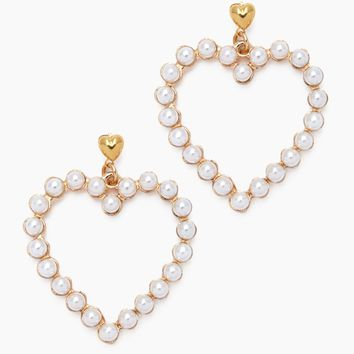 Amour Earrings - Pearl Heart