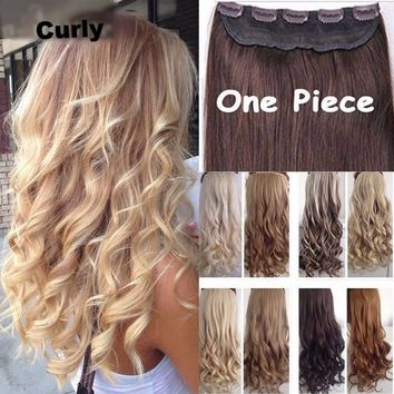 "Natural Hair Extensions Curly Wavy Long Hair Extensions 17""-26"""