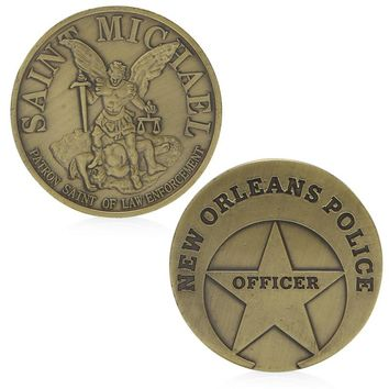 Saint Michael New Orleans Police Commemorative Challenge Coin Collection Gift