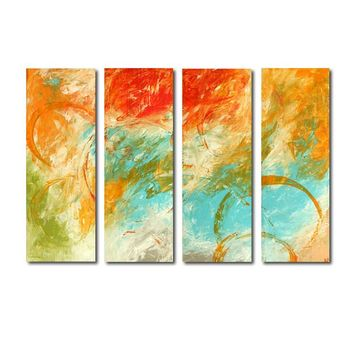 """'Fall Sky' - 40"""" X 30"""" Original Abstract  Art.  Free-shipping within USA & 30 day return."""