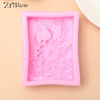 Beautiful Pink 3D Sunflowers Design Silicone Mould Soap Mold DIY Crafts Handmade Soap Making Mould Tool Supplies Gift
