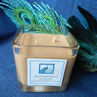 Sun and Sand Scented Soy Candle in 12 oz Glass Cube