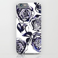 Inky Roses iPhone & iPod Case by Holly Sharpe