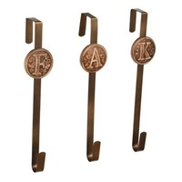 Bronze Monogram Wreath Hanger