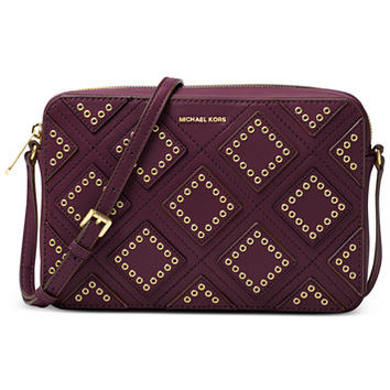 MICHAEL Michael Kors Diamond Grommet Jet Set Travel Large East West Crossbody | macys.com