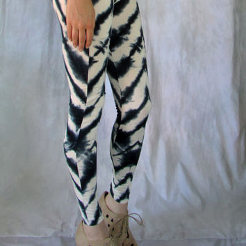 Tie Dye Chevron Leggings Shibori Stripes womens printed fall pants yoga shibori clothing