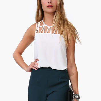 Strappy Chiffon Sleeveless Top