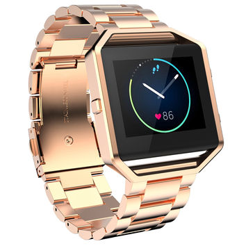 Stailess Steel Bracelet Strap Watch Band For Fitbit Blaze Smart Watch Black Gold  Rose Gold Band For Women Men Watch Accessories