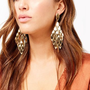 Chandelier Disc Earrings