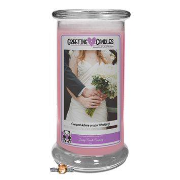 Congratulations On Your Wedding   Jewelry Greeting Candles