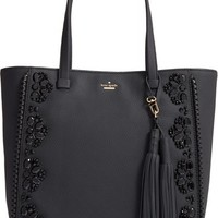 kate spade new york 'anderson way - dorna' beaded leather tote | Nordstrom