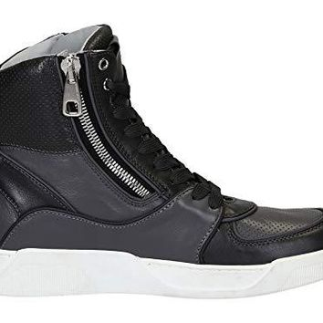 Dolce e Gabbana Men's CS1252AP0818B876 Grey Leather Hi Top Sneakers