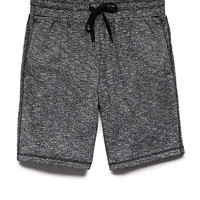 Cotton-Blend Marled Shorts