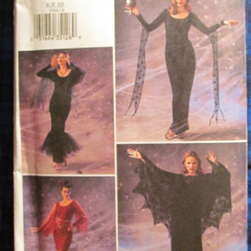 SALE Uncut Butterick Sewing pattern, 3554! 6-8-10 Small/Medium/Women's/Misses Halloween Witch/Cape/Devil Costume/Vampire/Batwoman/Zombie bri