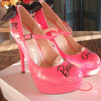 Barbie Girl Pumps Size 7 by PinUpInPink on Etsy