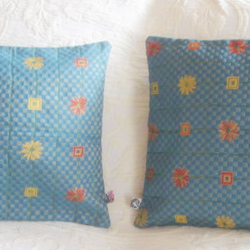Two pillows covers blue 16/16 by accessory8 on Etsy