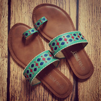 Mambo Islander Sea Green Sandals