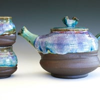 Handmade Ceramic Tea Set by ocpottery on Etsy