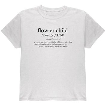 ESBGQ9 Flower Child Definition Youth T Shirt