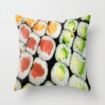 sushi,seaweed, Throw Pillow by store2u