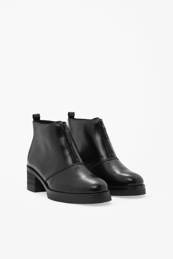 Zip-up leather boots from COS  180d373d87