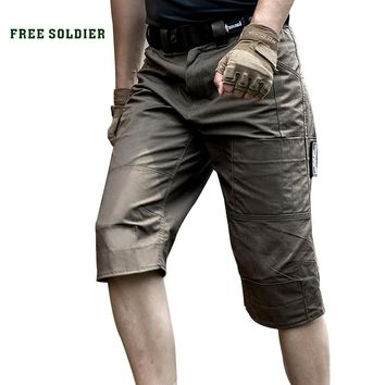 FREE SOLDIER Outdoor Sports Hiking Tactical Shorts Men's Summer Military Shorts Pants For Climbing,Multi-Pocket ,Anti-Scratch