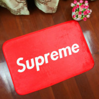Simple Unique Red Supreme Anti-skid Alphabet Bathroom Carpet Living Room Bedroom Mat