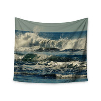 "Robin Dickinson ""Forever Young"" Blue Coastal Wall Tapestry"