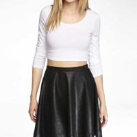 LONG SLEEVE CROPPED TEE