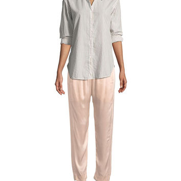 Xirena Beau Striped Lounge Shirt and Matching Items