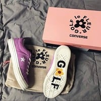 Converse One Star x Golf le Fleur TTC Suede 35-44 Purple Color