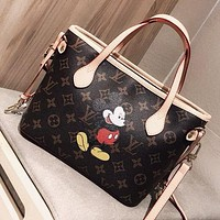 LV & Disney Fashion new monogram mouse print leather shopping leisure shoulder bag crossbody bag handbag