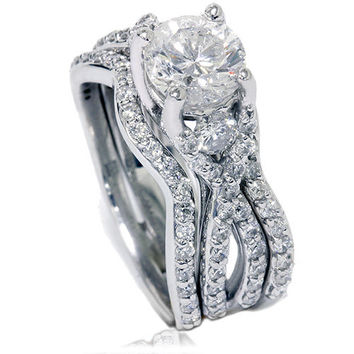 170CT Twist Infinity REAL Diamond Engagement Ring by Pompeii3