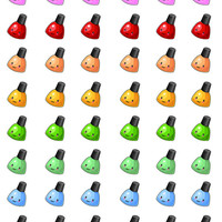 Nail Polish Stickers, Planner Stickers, Kawaii Nail Polish Stickers, Manicure Stickers, Rainbow Nail Polish Stickers, Kawaii Manicure