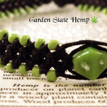 Black Hemp Necklace, Hemp Choker Necklace, Beaded Hemp Necklace, Lime Green Black Hemp Necklace, Hemp Jewelry, Hemp Macrame Necklace