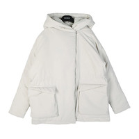 Off-center Zip Padded Jacket