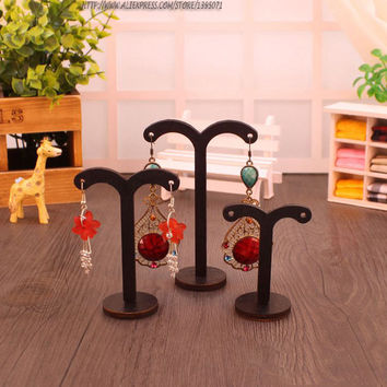 Fashion Wooden Earrings Display Rack Set Earrings Holder Jewelry Dispaly Stand Earring Showcase 3pcs/set