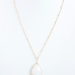 White Pebble Necklace - Necklace
