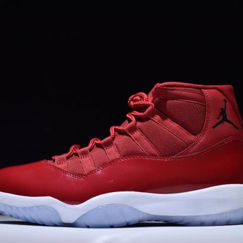Jacklish 2017 Hottest Christmas Gift Air Jordan 11 Win Like 96 In Gym Red For Sale