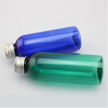 80ml Plastic Empty Bottles with Aluminum Cover, Screw Container for Potion, Water, Liquid Cosmetic dispenser Bottles 20PCS/lot