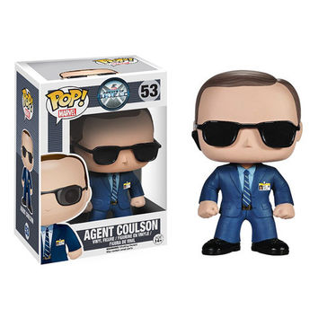 Agent Coulson Agents Of SHIELD Pop Heroes Bobble Head Vinyl Figure