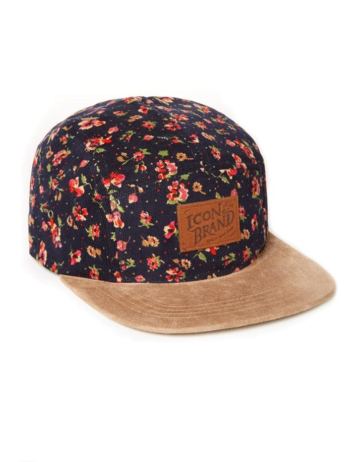 8f296dc0569 Icon Brand 5 Panel Cap in Floral Print - from The Idle Man