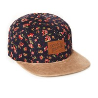 Icon Brand 5 Panel Cap in Floral Print - Caps & Hats - Accessories | Shop for Men's clothing | The Idle Man